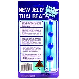 JELLY THAI ANAL BEADS, BLUE